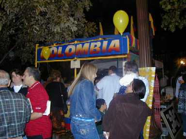 Colombian Booth in Fiesta Indianapolis 2000