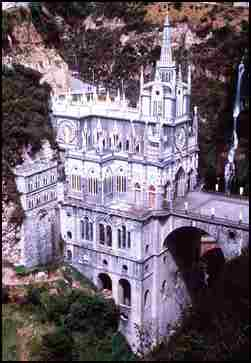 Beautiful catholic church and religious center of Las Lajas